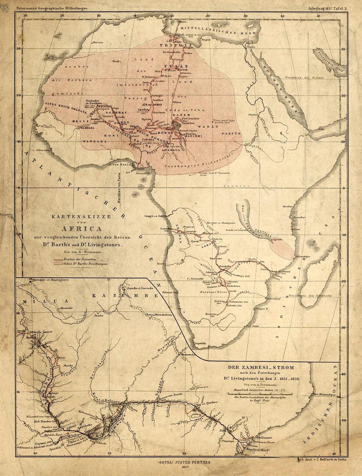 Map Of Africa 1850.Africa 1850 Map Of African Feminist Standpoint